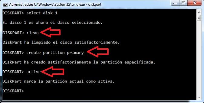 activar particion usb con cmd