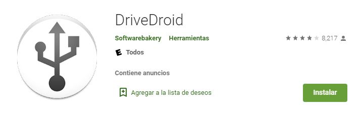 Usb booteable desde android con DriveDroid