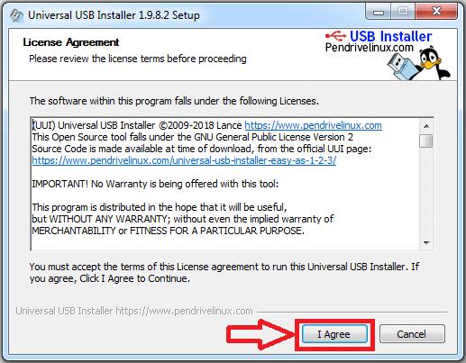 crear usb booteable con universal usb intaller paso 1