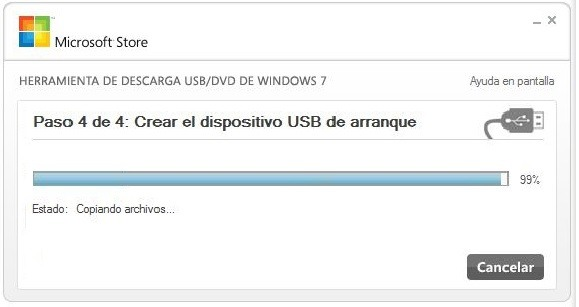 Crear usb booteable con Windows USB/DVD Download Tool