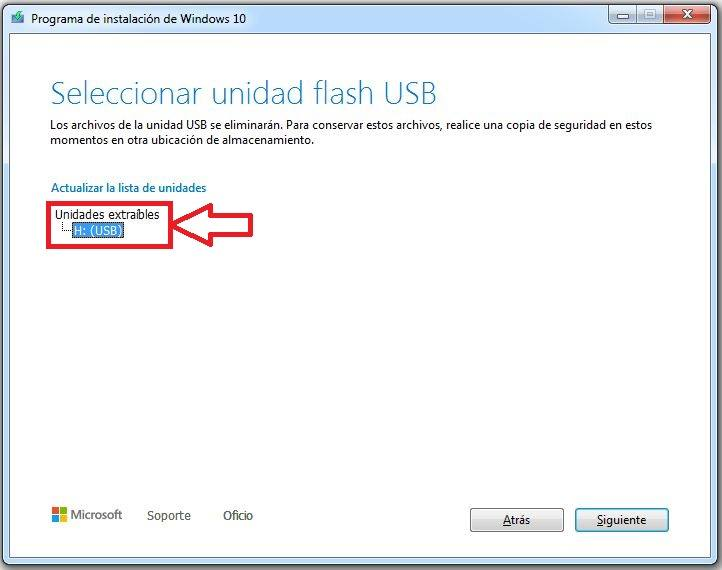 crear usb windows 10