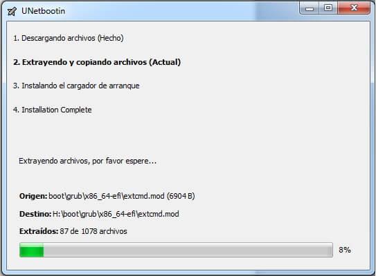 crear usb booteable utilizando unetbootin