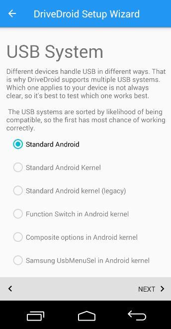 configuracion android standar boot