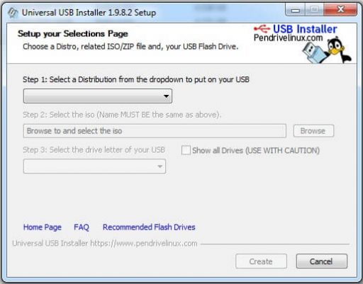 usb booteable con Universal usb installer