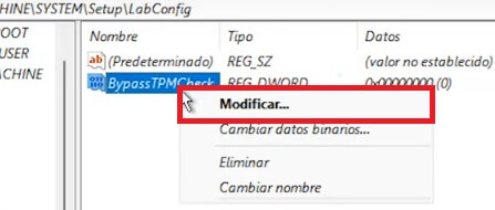 modificar valores de windows 11